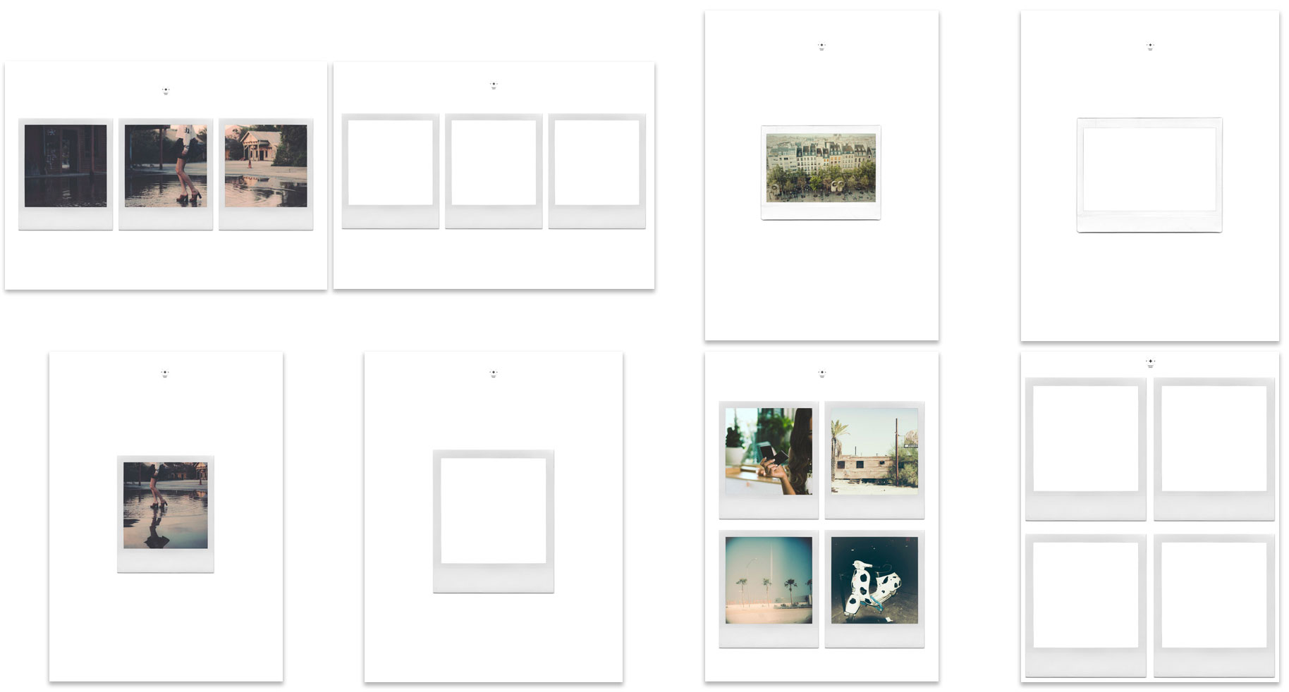 PS Instant Film Template Collection Samples +PS LOOKS 04 INSTANT FILM