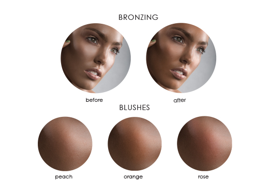 bronze blush Beauty Brush | Step by Step