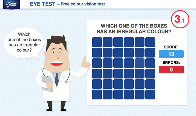 eyetest1 CHECK YOUR COLOR VISION